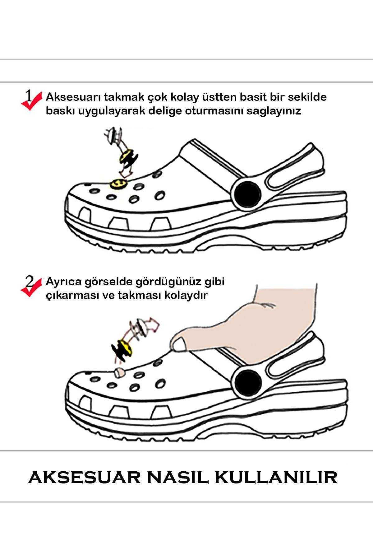 Kül Kedisi Jibbitz Crocs Süsü Bileklik Terlik Süsü Charm Terlik Aksesuarı - CRS0122