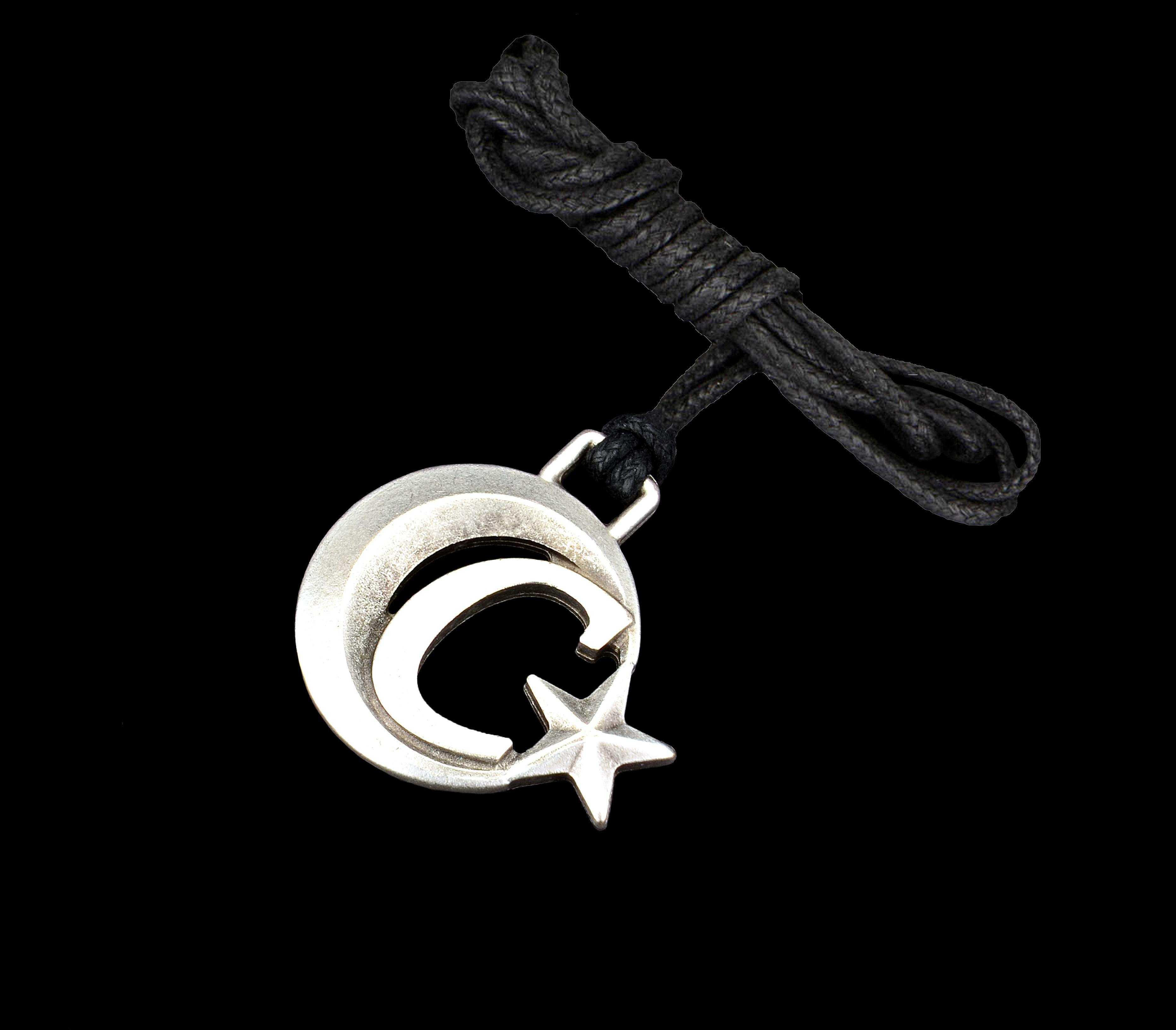 Ay Yıldızlı C Harfli Kolye - KOL0145