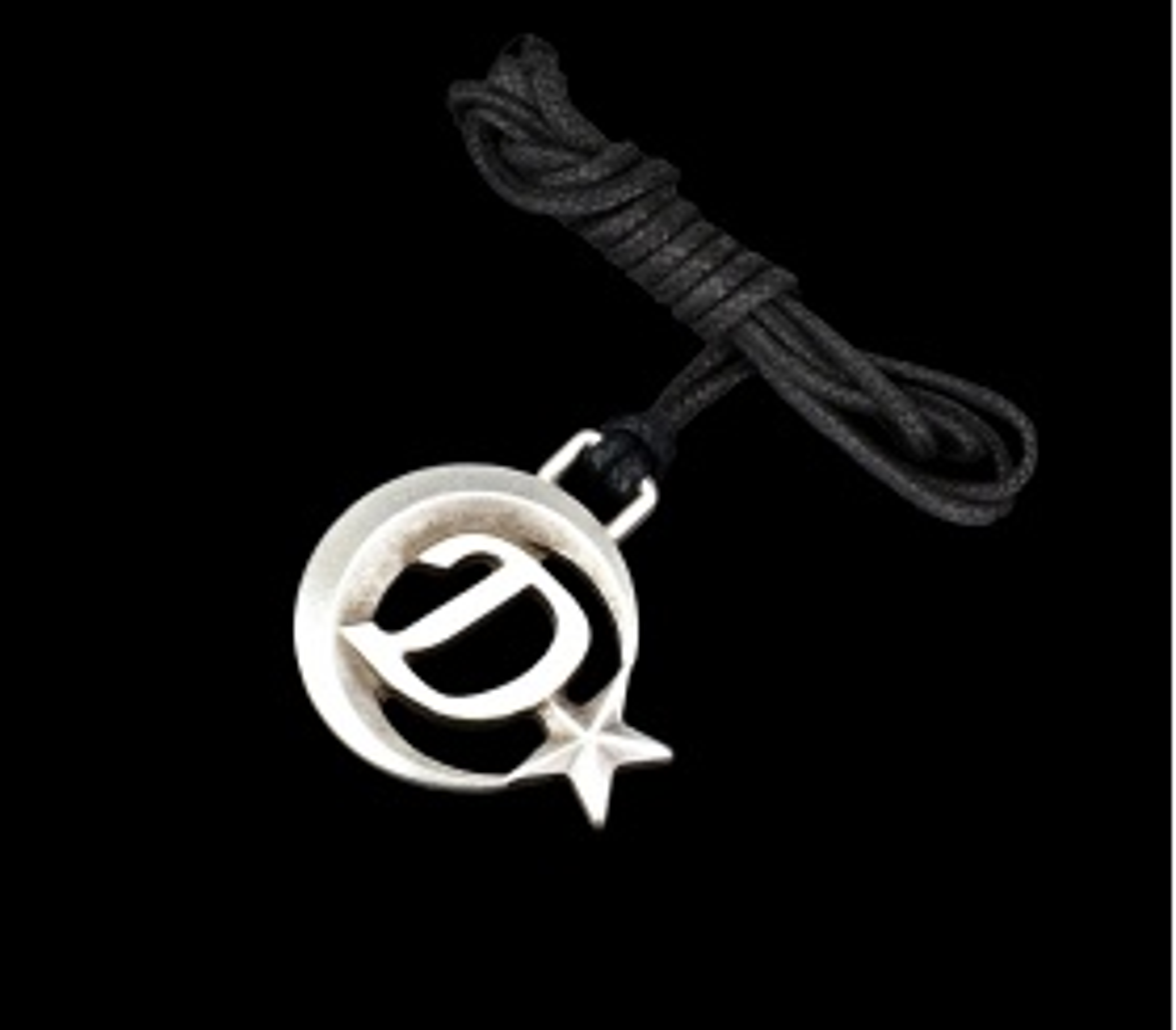 Ay Yıldızlı D Harfli Kolye - KOL0147