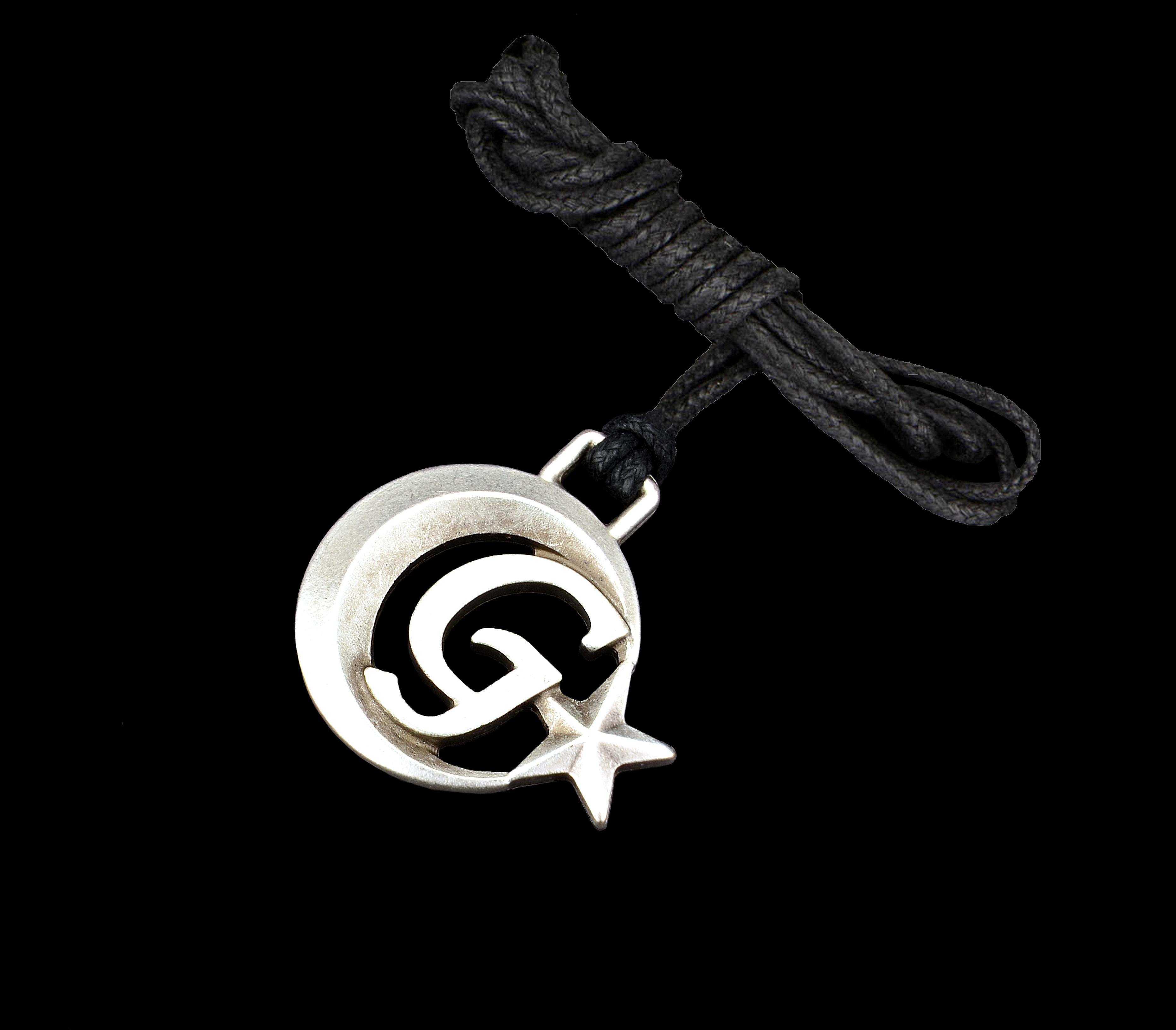 Ay Yıldızlı G Harfli Kolye - KOL0150