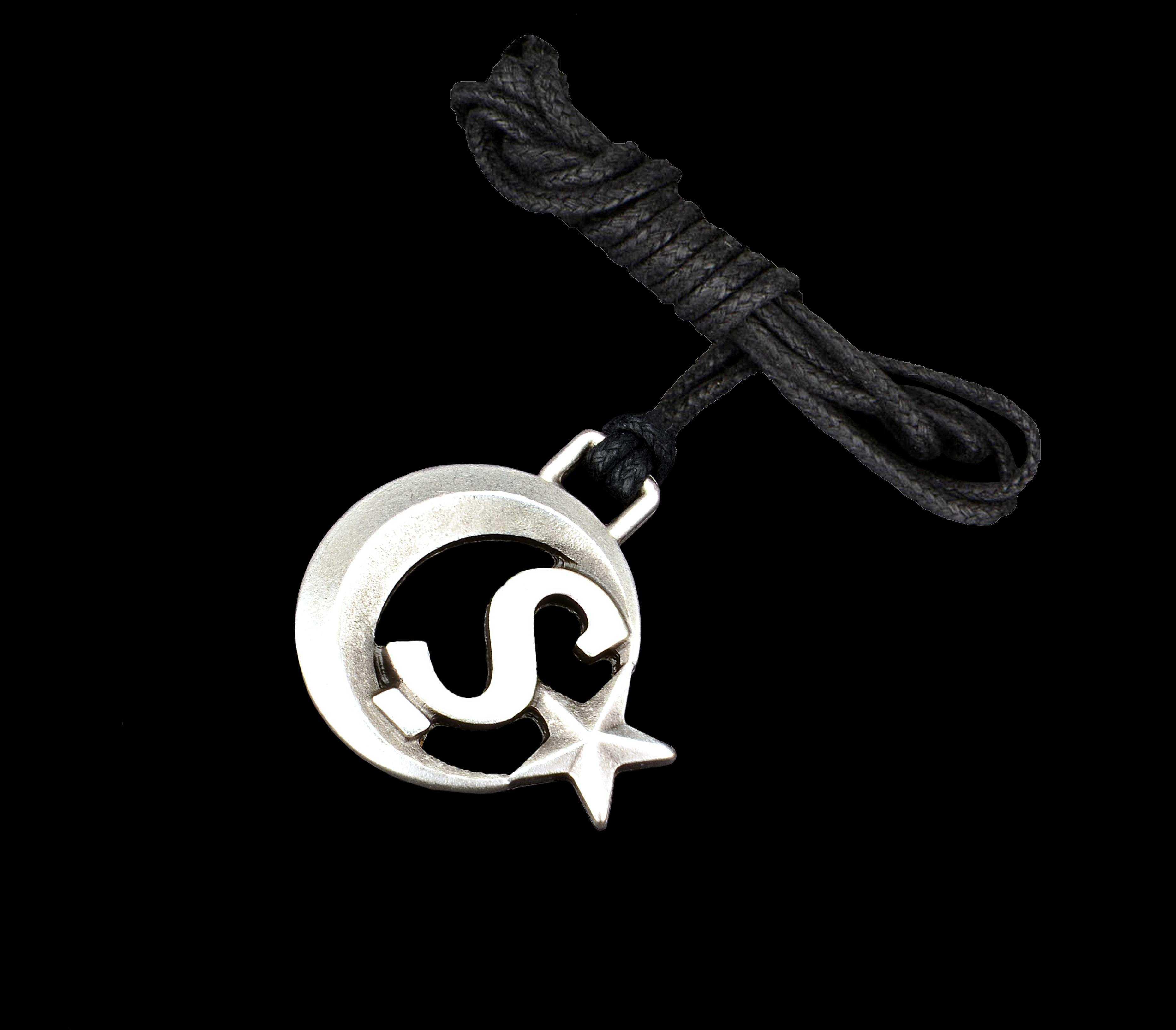 Ay Yıldızlı Ş Harfli Kolye - KOL0164