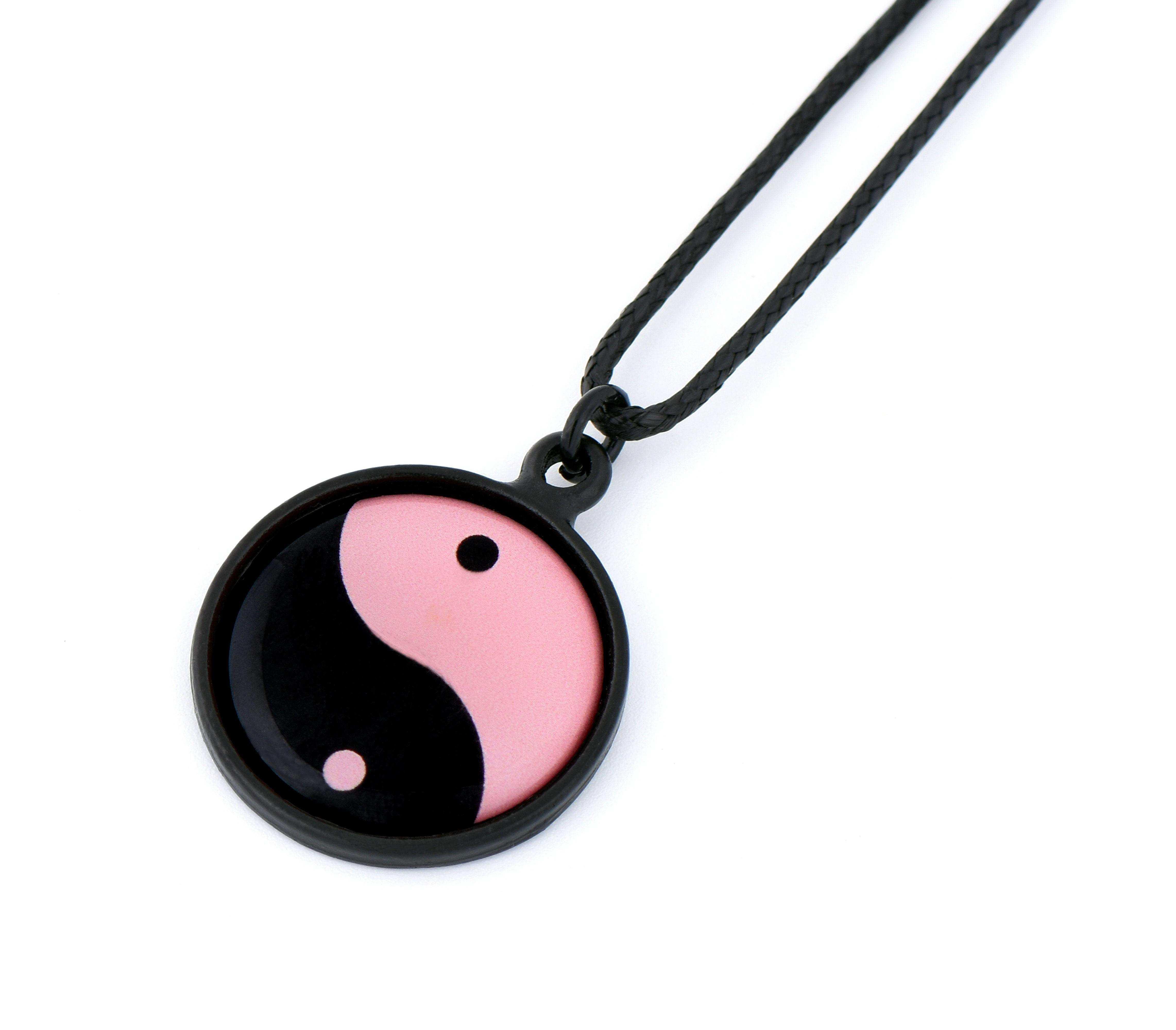Black Pink Ying Yang Kolye - KOL0432