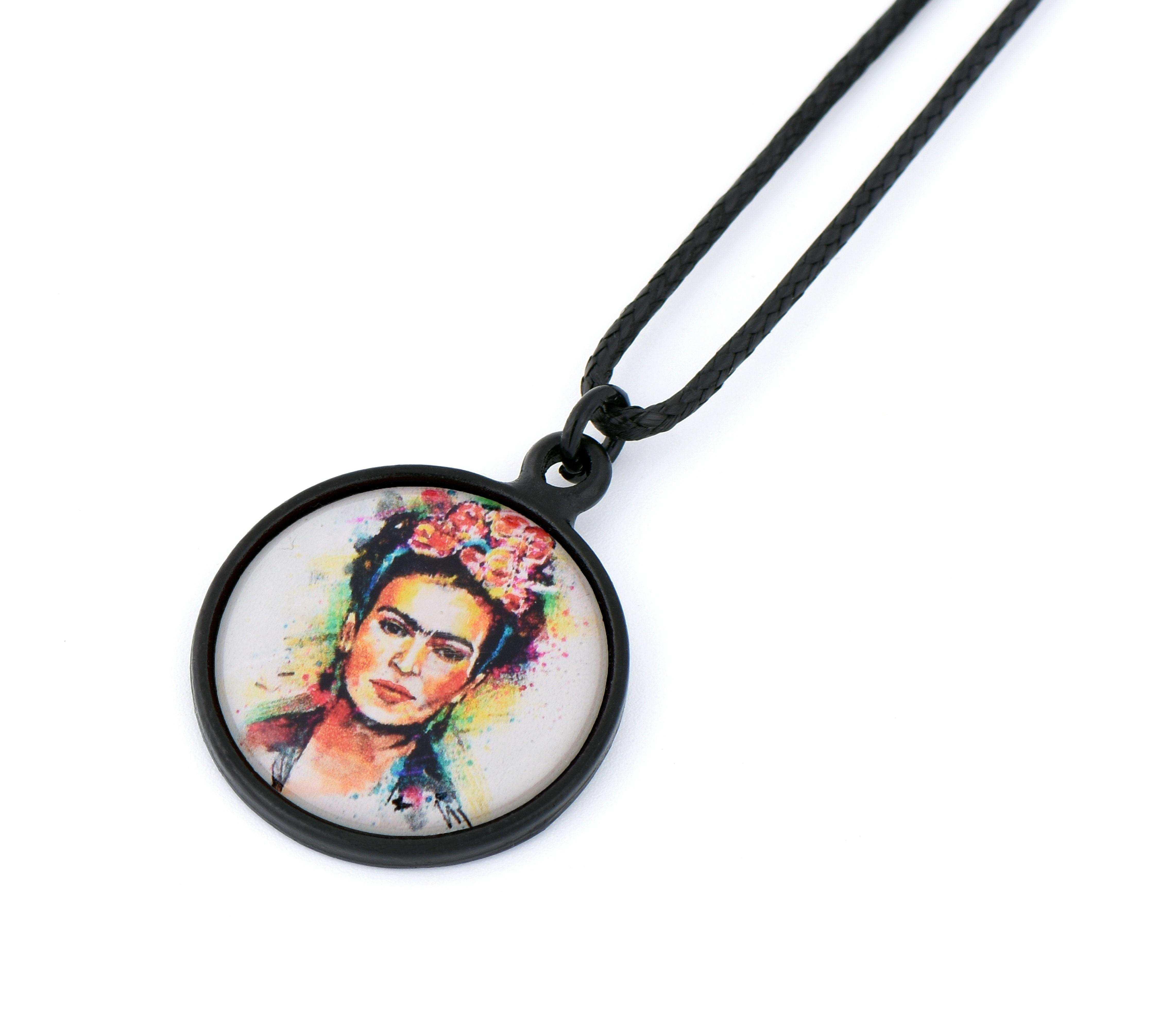 Frida Kahlo Resimli Kolye - KOL0431