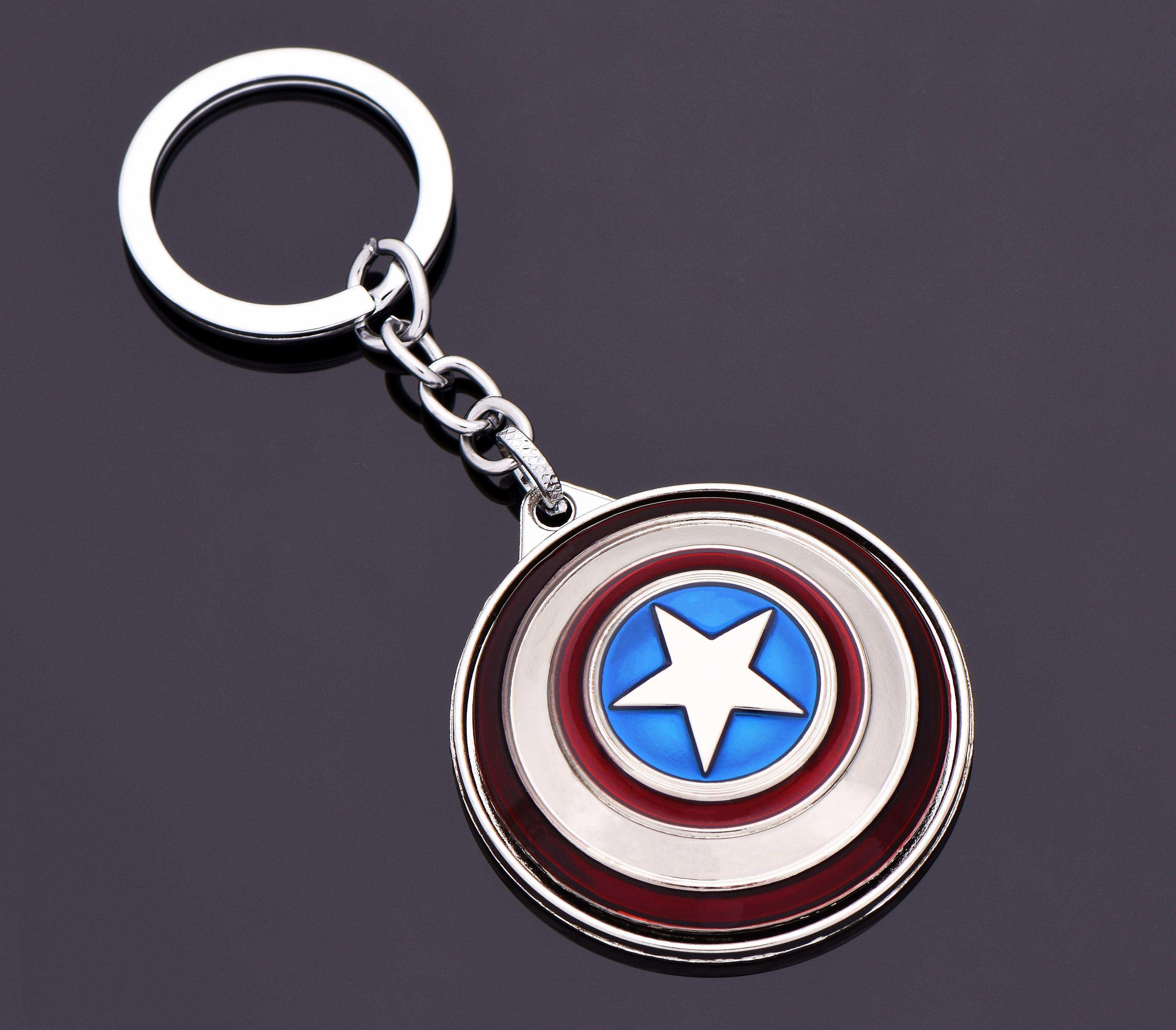 Kaptan Amerika Gümüş Dönen Kalkan Anahtarlık - ANA0059