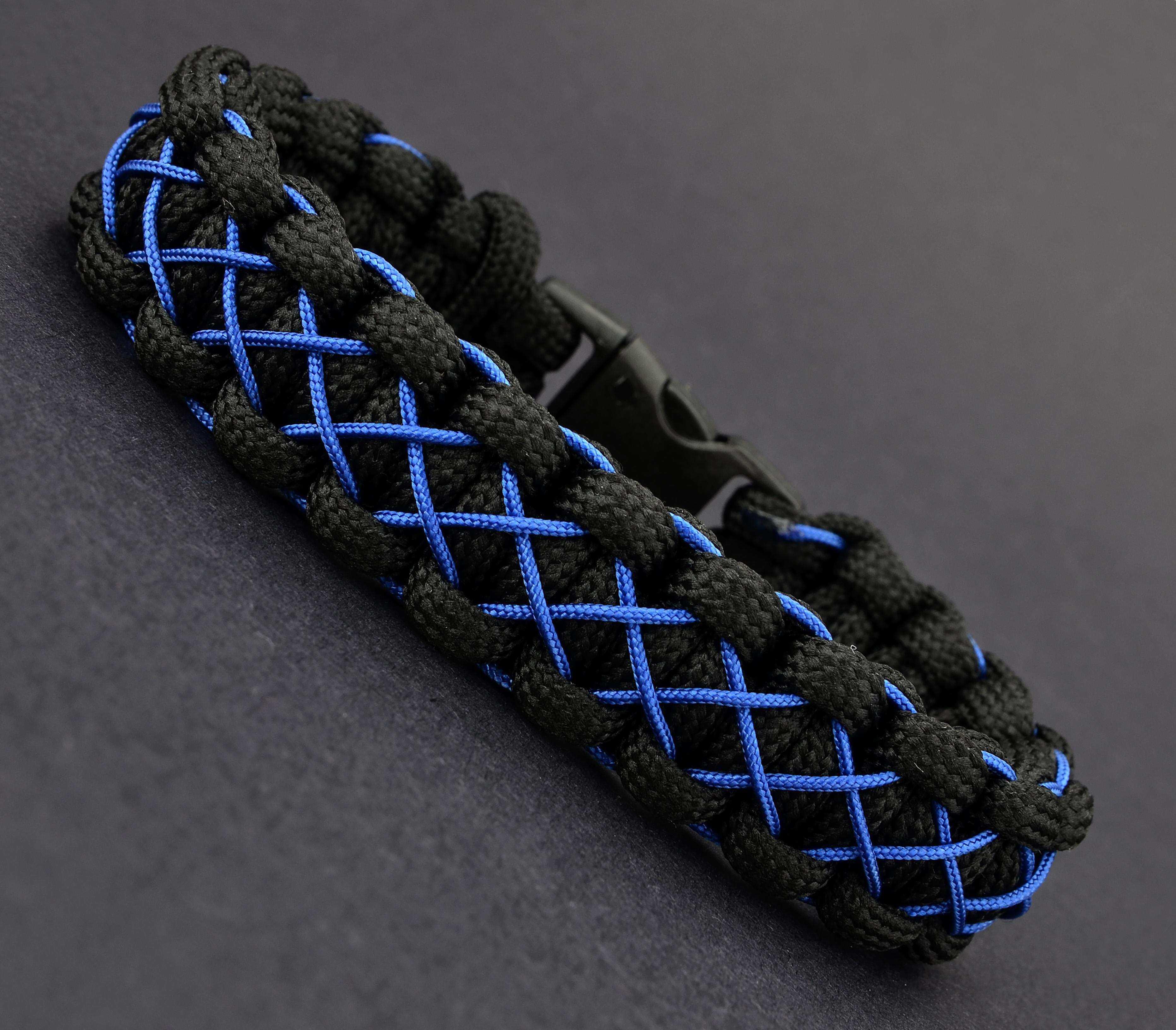 Siyah Mavi Paracord Bileklik - PAR0060