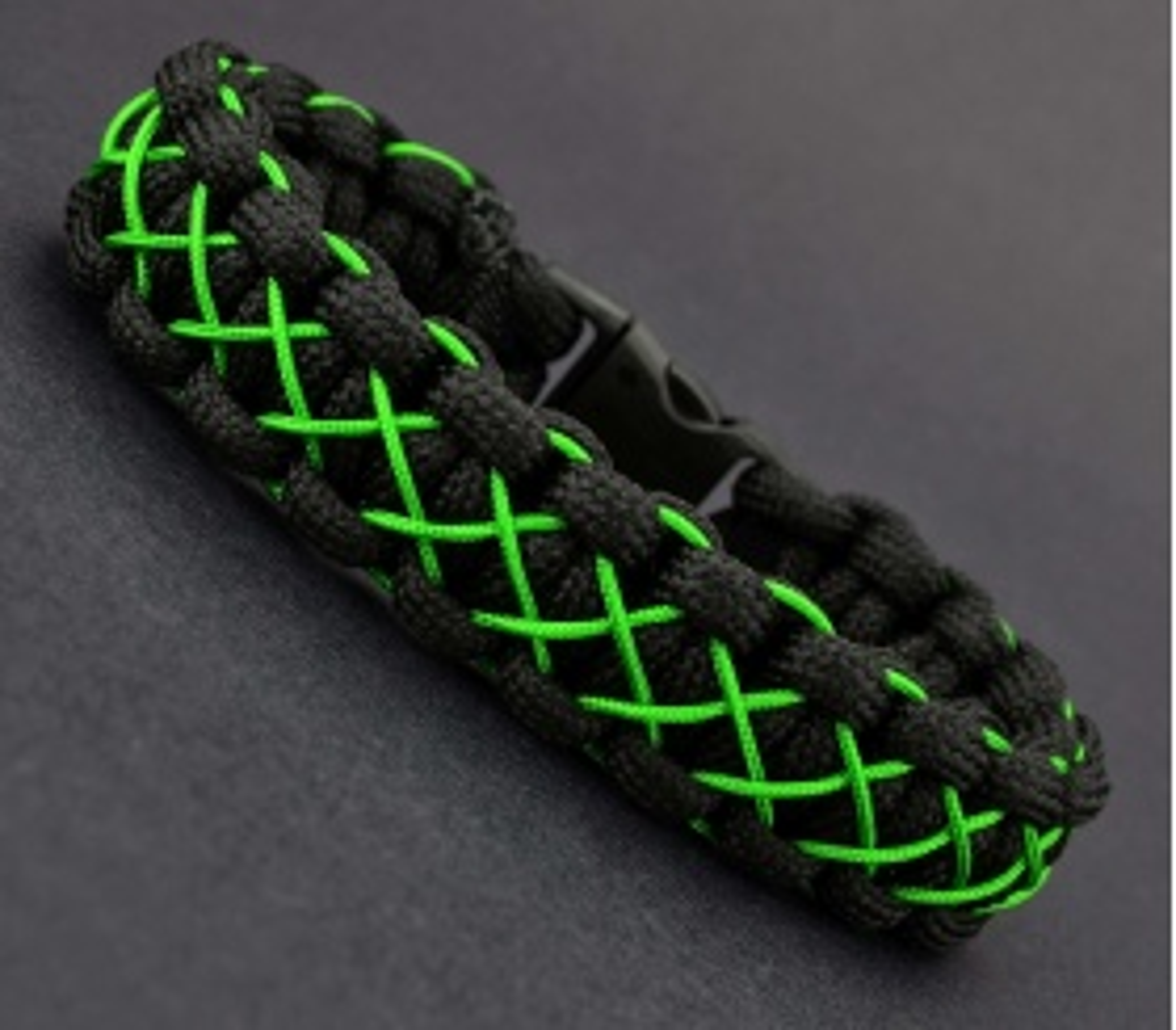 Siyah Yeşil Paracord Bileklik - PAR0066
