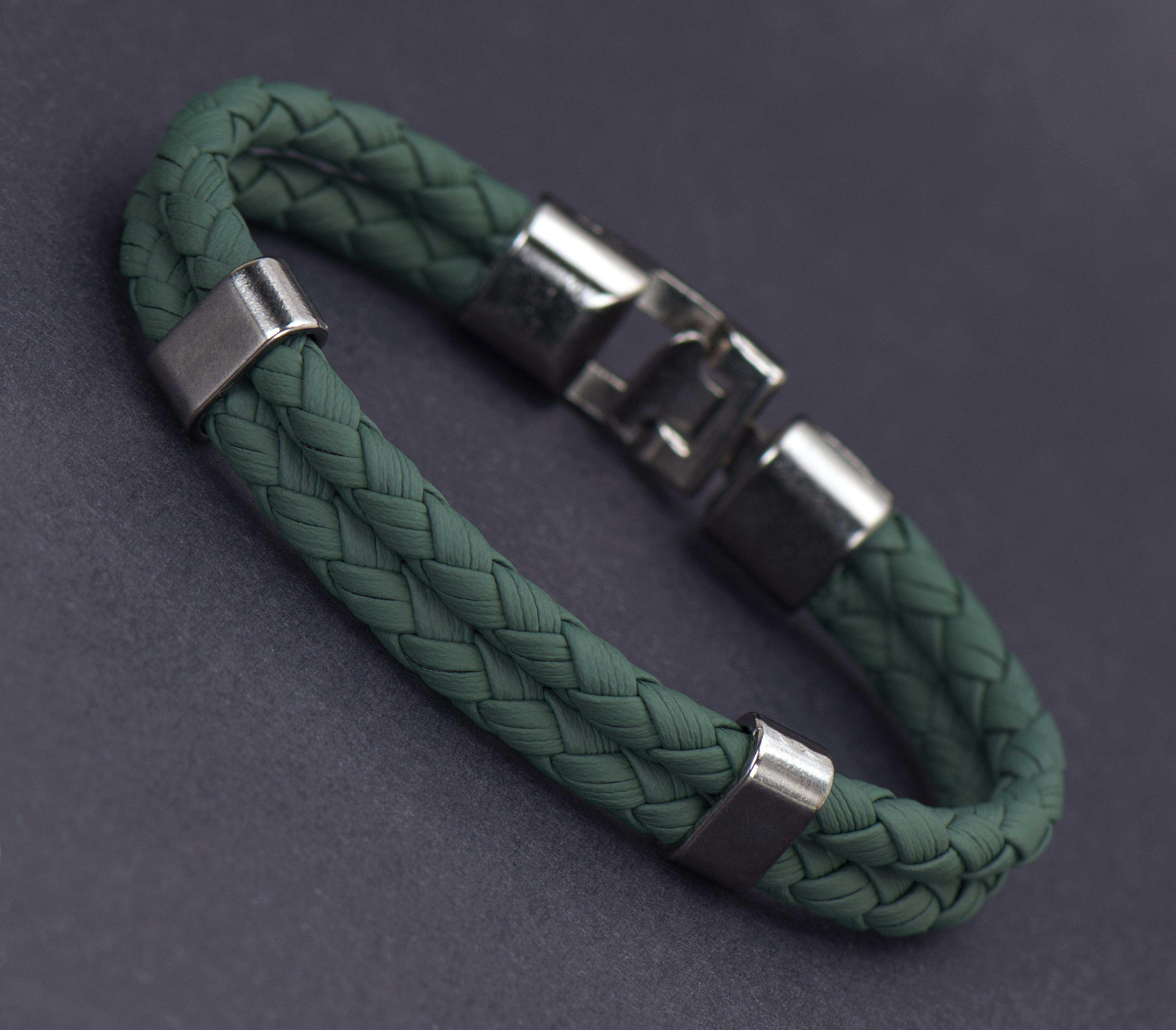 Yeşil Deri Bileklik - DER0149