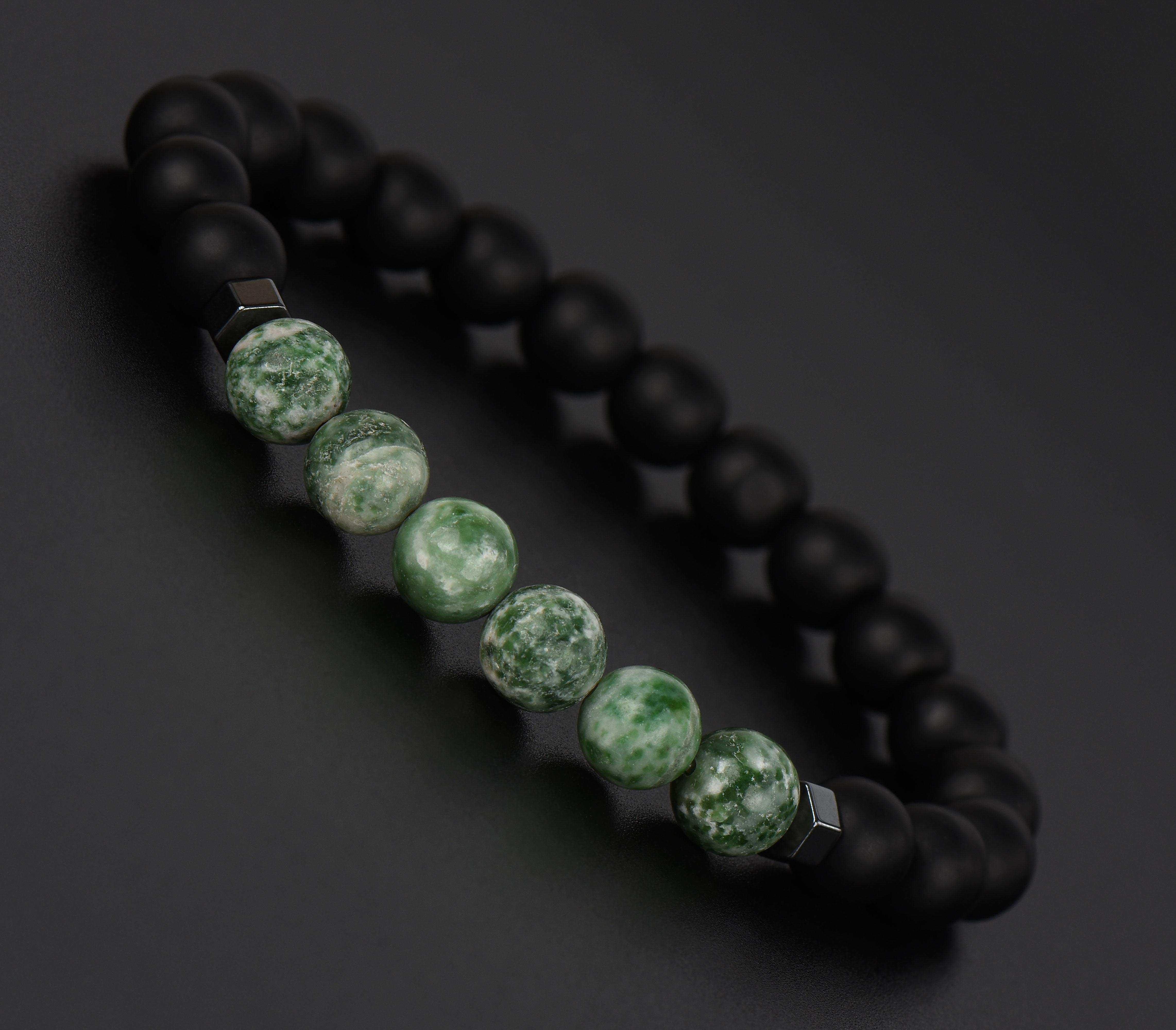 Yeşil Jasper Doğal Taş Bileklik - TAŞ0190