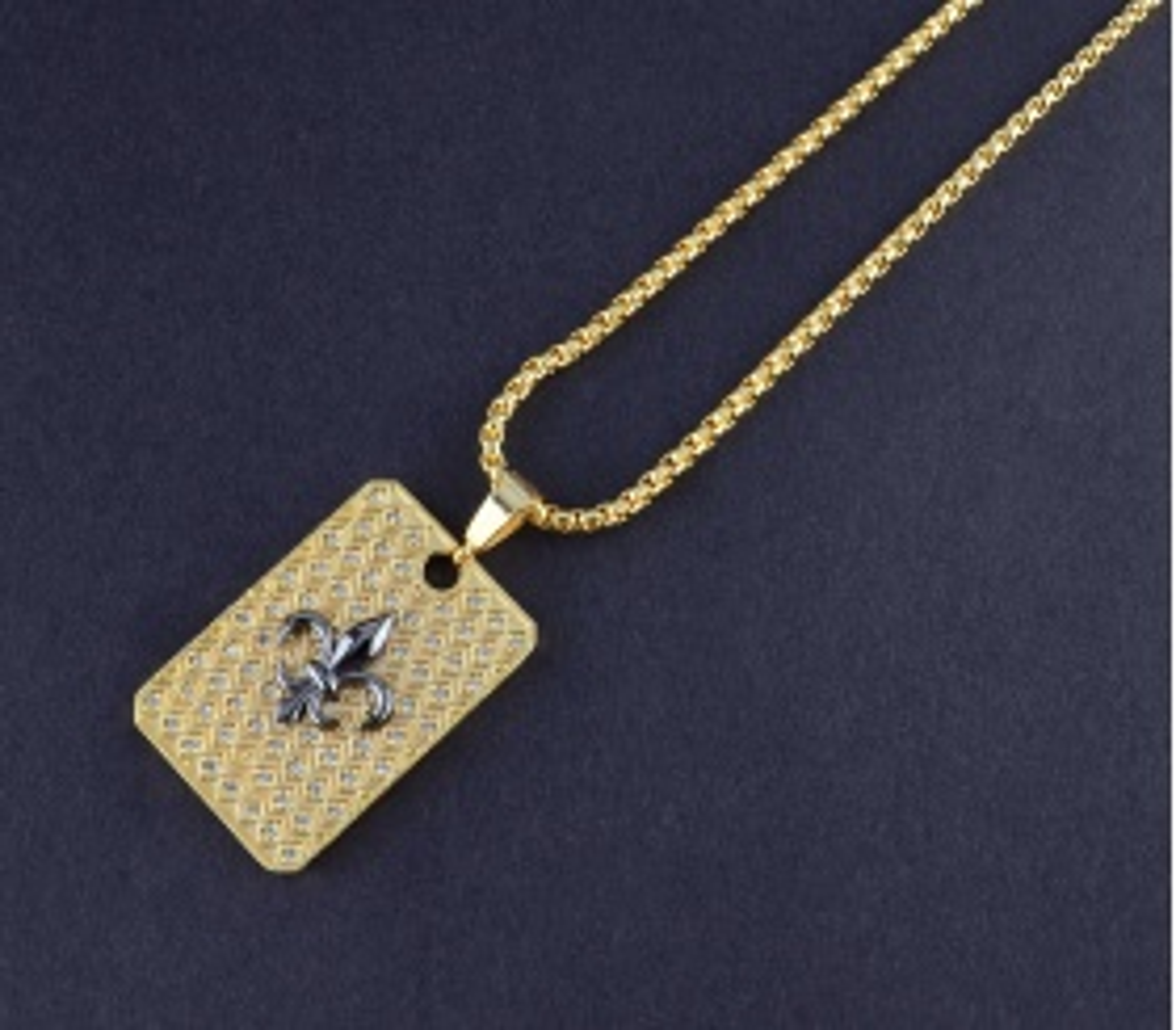 ZCN Fleur De Lis Gold Necklace - ZCN0002
