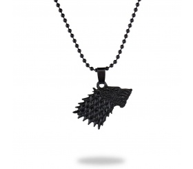 Mat Siyah Game Of Thrones Stark Kolye - CAZ0098