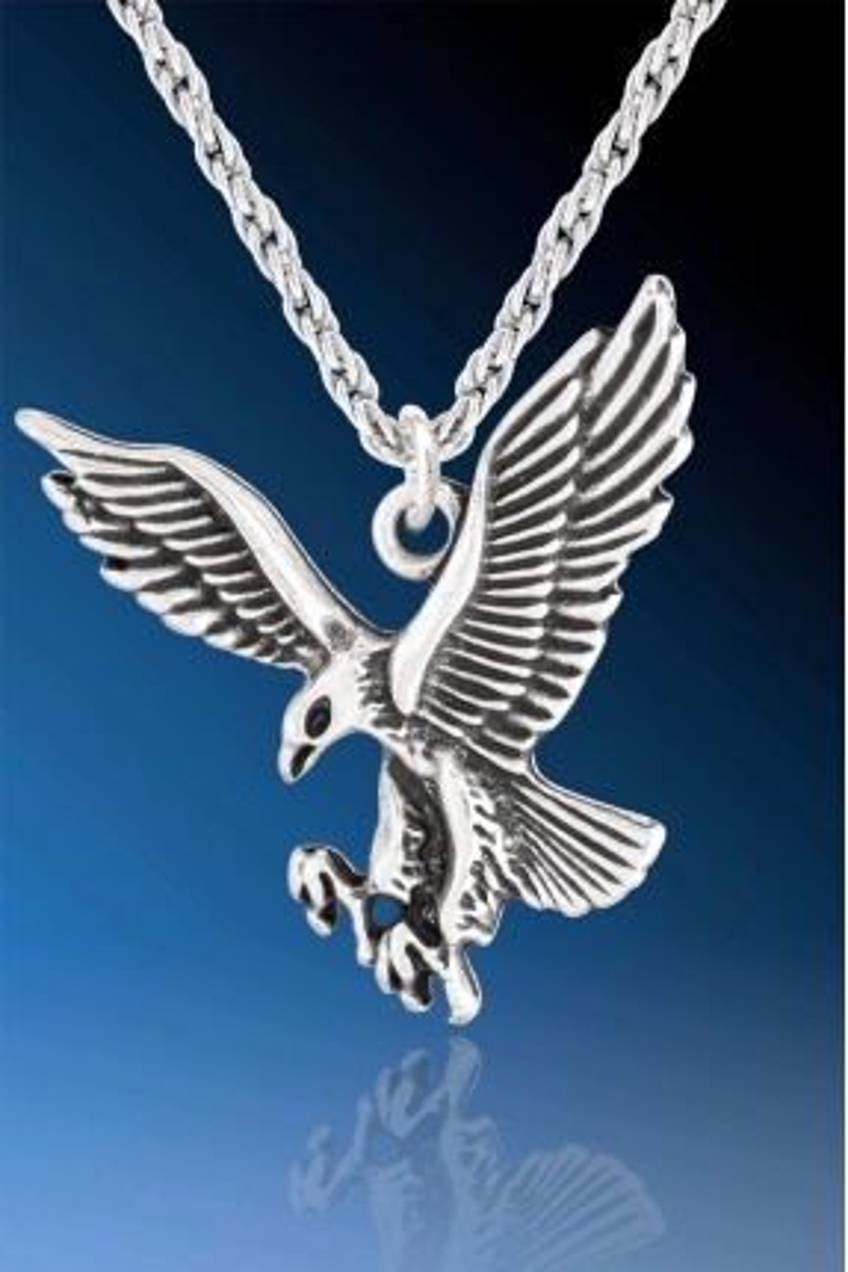 Avcı Kuş Kara Kartal Kolye - CAZ0390