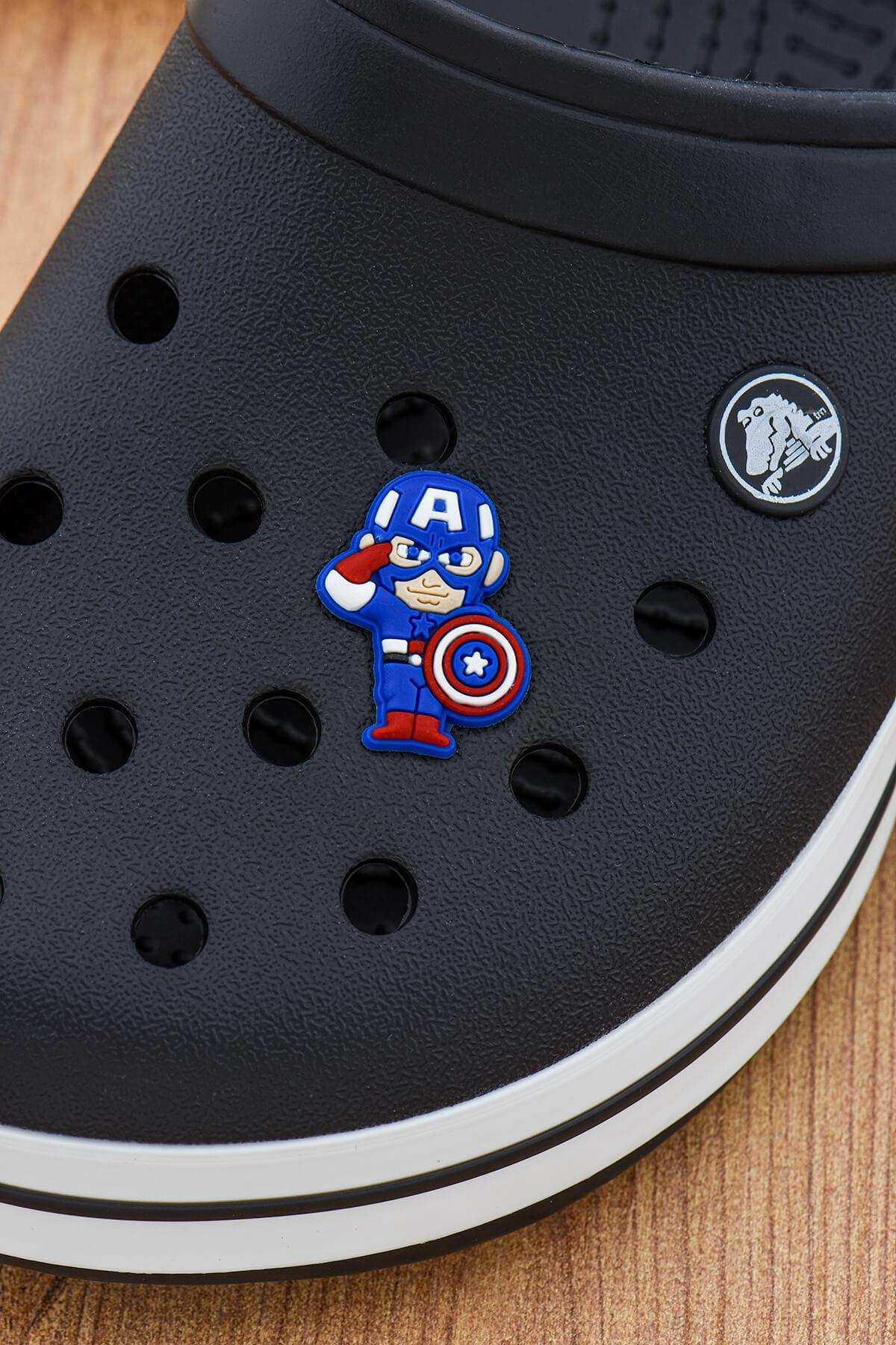 Kaptan Amerika Crocs Süsü Bileklik Terlik Süsü Charm Terlik Aksesuarı - CRS0142